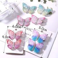 Neue Mädchen Schöne Bunte Simulation Schmetterling Haarklammern Süßes Haar Ornament Stirnband Haarnadeln Kinder Haarschmuck 8 y2