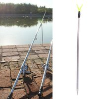 Support de canne à pêche en acier inoxydable 2 sections Verstelbare Réglable V Porte V