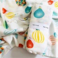 Karitree Baby Muslin Swaddle cobertores de banho toalha 70% Bambu + 30% algodão nascido Baby Bath Towel Swaddle cobertores envoltórios 210712