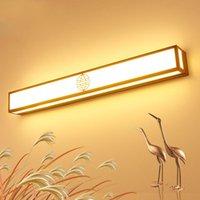 Yeni Çin Tarzı 16 W / 24 W / 32 W LED Duvar Montaj Işık SMD 2835 Ayna Ön Lamba Fikstürü PVC Bronz / Siyah Kabuk