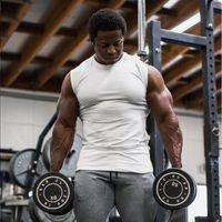 Men's Tank Tops Summer Gym Clothing Sporting Singlets Bodybuilding Stringer Top Men Cotton Fitness Sleeveless Shirt Muscle Vest