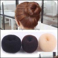Bande di gomma Gioielli Gioielli24pcs Donut Anello Bun Shaper Hairs Styler Maker Ex Imballaggio individuale Corea Giappone moda all'ingrosso Drop del