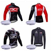 GCN 팀 사이클링 겨울 열풍 폼 저지 긴 소매 자전거 따뜻한 야외 스포츠 저지 의류 자전거 착용 Ciclismo Maillot 102218
