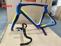 1K Glossy F12 Frame Carbon Bicycle Frames Black Carbon Road Bike Framesset with Fork Seatpost Clamp Headset + Handlebar BB68