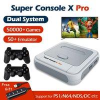 Super Console X Pro Video Game Console WiFi 4K HD per PSP / PS1 / N64 Portable Retro Gaming Player con 50+ emulator 50000+ giochi DHL
