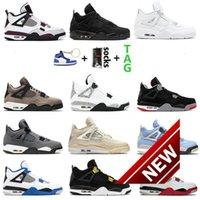 Men &#039 ;S 4 High Og Basketball Shoes 1s University Blue Silver Royal Toe Black Metallic Gold Medium Smoke Gray Wo Sneakers