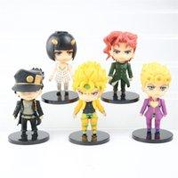5 adet Anime Tuhaf Macera Figürü Kujo Jotaro Heykelcik Higashikata Josuke Kakyoin Noriaki Action Figure Model Oyuncak 10-11 cm 210730