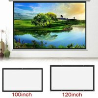 Game Controllers & Joysticks 120 Inch-60inch Projection Screens 3D HD Wall Mounted Screen Canvas LED Projector For Home Theater
