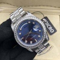 Montre de luxe Brillant Diamond Mode Mode, Bracelet en acier inoxydable, Mouvement mécanique automatique, Design de maître, Verre Saphire, 36 mm, Hommes