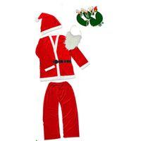 Santa Claus Theme Theme Theme Party Unisex Cosplay Manga larga 5 piezas Trajes de moda Forme trajes divertidos