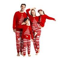 2021 Família combinando pijama de Natal conjuntos meninos meninas família combinando roupas mãe pai crianças pijamas xmas sleepwear meninas roupas h1014