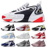 M2K Tekno Zoom 2K الرجال Casuall أحذية 2000 أسود الشراع الأبيض البرتقال البحرية نوعية جيدة الرياضة أحذية رجالي المدرب حجم 7-11 K5MC