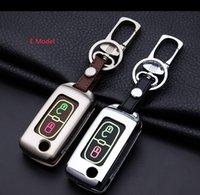 Çinko Alaşım + Deri Araba Anahtar Fob Uzaktan Kapak Kılıf Peugeot 107 206 207 208 306 307 308 407 için Citroen C2 C3 C4 C5 C6 Quatre