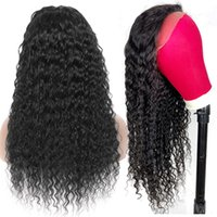 32 36 Lace Closure Front Wigs With Frontal Density Brazilian Straight Kinky Curly Body Deep Water Wave Human Hair Transparent Wig for Women