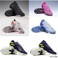 Capacidades de fútbol para hombre cómodos Nemeziz 19.1 FG Soccer Shoes Cleats Messi Football Boots Scarpe da Calcio