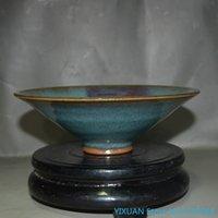 Juin Four Song Dynastie Un chapeau rouge Un bol Un glaçage changeant antique antique antique antique et céramique collecter