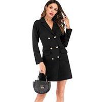 Kadın Takım Elbise Blazers Dower Me Zarif Çift Göğüslü Kadın Elbise Ofis Rahat Blazer Beyaz 2021 Bahar Kış İnce Suit Bayanlar Siyah Dr