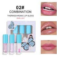 립글로스 3pcs 오일 립스틱 다이아몬드 맑은 축축한 빛 블러셔 하이라이트 세트 키트 z