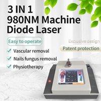 최신 고통없는 높은 퀼 티 스파이더 정맥 치료 기계 980nm 다이오드 레이저 혈관 제거 varicose 정맥 제거 치료