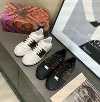 FrontTrow Sneaker Luxurys Designer White Leder Casual Schuhe Patent Monogramme Leinwand Low-Top Frauen Gummi-Außensohle Leoparden Gedruckt Classic Trainer Schuh