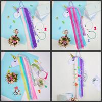 1 stücke Einhorn Haar Bögen Aufbewahrungsgürtel für Mädchen Geschenkclips Barrette Haarband hängen Organizer Streifenhalter für Haarspangen auf Haare 152 y2