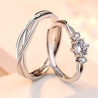 S925 Sterling Silver Couple Rings A Pair Of Lively Simple Male And Female Pairs Of Rings Original Design Open Jewelry