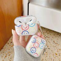 Набор наушников Smiley Мягкая прозрачная силиконовая оболочка для Apple Airpod 2/1 Крышка PRO 3 Шкафы Airpods Capa Fundas