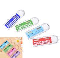 2021 new Mini Portable Solar Energy Calculators Creative Multifunction Ruler Student Rulers Calculator