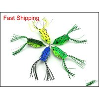 Baits 100Pcs Soft Plastic Fishing Lures Frog Lure With Hook Top Water 55Cm 8G Artificial Fish Tackle Mkfjf Wkqpb