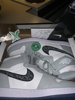 Air Retro Jordan 1 High Og Grey 2021 Мужские баскетбольные Обувь Дизайнерские кроссовки Кроссовки Тренажеры 1s Выбит на верхних кристаллических нижних корзинах