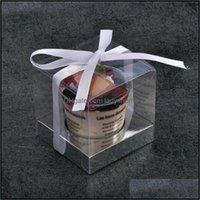 Wrap Festive Supplies Home & Garden10Pcs Transparent Clear Gift Candy Box Square Pvc Chocolate Bags Favor Wedding Dces De Caja Boxes Event P