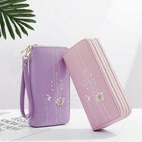 Wallets 2021 Ladies Wallet Long Double Zipper Women Fashion Korean Large Capacity Bear Handbag