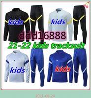 2021 2022 Kids Tracksuit Kits Soccer 21 22 Fabregas Willian Kante طفل كرة القدم ارتداء بدلة تدريب مجموعة
