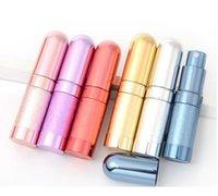 100pcs Haute Qualité 6 ml rechargeable verre vide parfum de pulvérisation en métal parfum-atomiseur owa6841