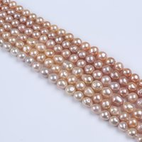 10- 13mm A Grade Natural Freshwater Pearls Beads Through Hole...