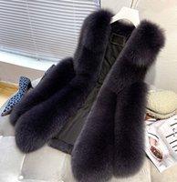 High Quality Faux Fox Fur Vest Women Red Vests Winter Thick Warm Fur Vest Fashion Luxury Coat Fur Jacket
