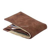 Wallets BLEVOLO Brand Men Small Money Purses Design Dollar Price Top Thin Wallet With Coin Bag Zipper