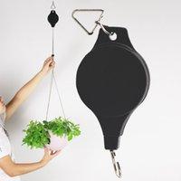 Neue Tragbare Einziehbare Gartenscheibe Korb Ziehen Herunterzieher Aufhänger Pflanze Topfhaken Pflanzer Kunststoffhalter Blumentopf Haken Ewf7774