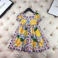 高いQuliaty Baby Girls Dress Tops 2021夏の甘い子供の女の子のドレス子供パーティードレス服