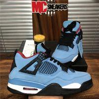 أعلى جودة الموالية الأزرق الشراع كاو الرجال jumpman 4 4 ثانية أحذية كرة السلة رابتورز الأسمنت الأبيض البديل motorsport برات bred النساء الرياضة مع مربع