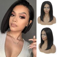 Spitze Perücken 13x4 Verschluss kurz Bob Menschliches Haar für schwarze Frauen Glueless Pre-Pppeled Brazilian Straigh Perücke Blunt Cut Remy