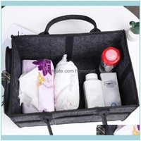 Housekeeping Organization Home & Gardenlarge Portable Diaper Organizer Caddy Felt Changing Carrier Bag For Baby Kids Travel Storage Bags Dro