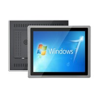 19 inch Embedded Aluminum alloy Case Industrial LCD Monitor Capacitive touch Screen VGA/DVI//USB Laptop Tablet display