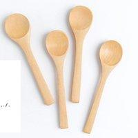 일본 나무 레터링 로고 미니 꿀 숟가락 수제 도색 한 대나무 어린이 잼 숟가락 선물에 대 한 잼 숟가락 웨딩 LLF11160