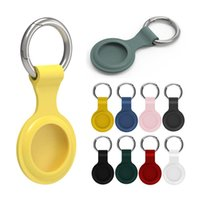 Soft Silicone Cases for Airtag Protective Cover Anti-lost Device Finder Holder with Key Ring Smart Bluetooth Wireless Tracker