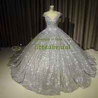 Quinceanera Dresses Ball Gowns 2020 Sheer Neck Crystals Orangza Scoop Neck Floor Length Backless Prom Girl's Pageant Dresses