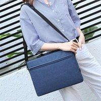 حقائب صغيرة 13 14 15 بوصة حقيبة كمبيوتر محمول غطاء المحمولة بطانة كم حقيبة بلون بلون الكتف النساء الرجال دفتر 2021