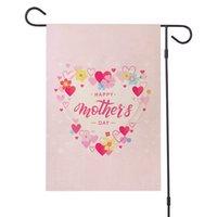 Mutlu anneler günü bahçe bayrağı çift taraflı çuval bezi bahçe dekorasyon çiçek anneler günü ev yard süsleme 47 * 32 cm gga4236