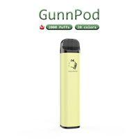 100%Original Gunnpod 2000 puffs+20ColorsDisposable disposable pods device vape kits 1250mah battery 8ml Pre-Filled empty Pen Portable