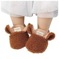 Первые ходунки родились детские детские ползать обувь мальчик девушка тапочки ягненка предыдущие тренажеры детей для питьевых детей